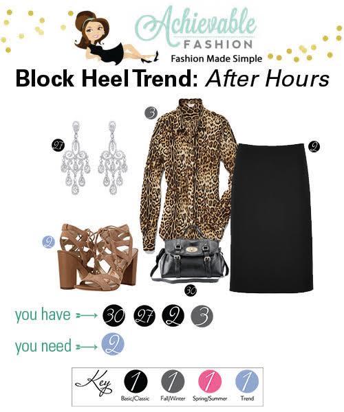 Block Heel Trend After Hours