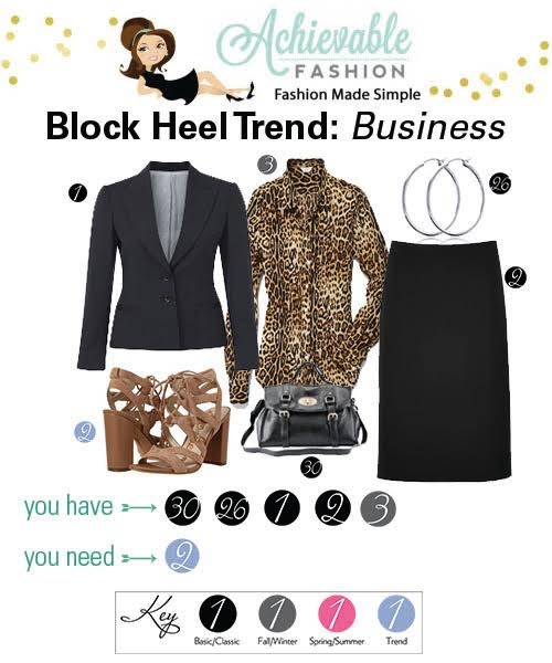 Block Heel Trend Business