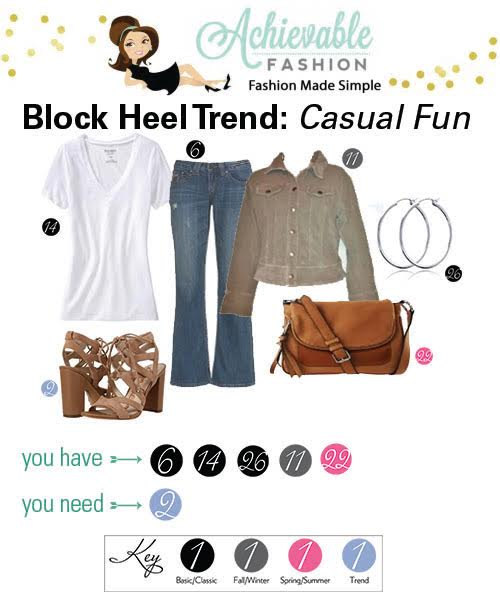 Block Heel Trend Casual Fun
