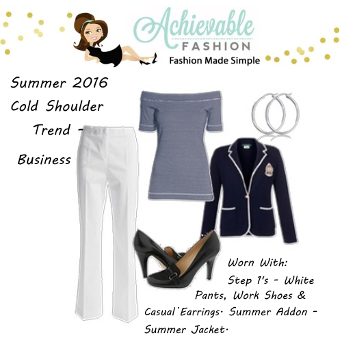 Cold Shoulder Trends Worn for Business