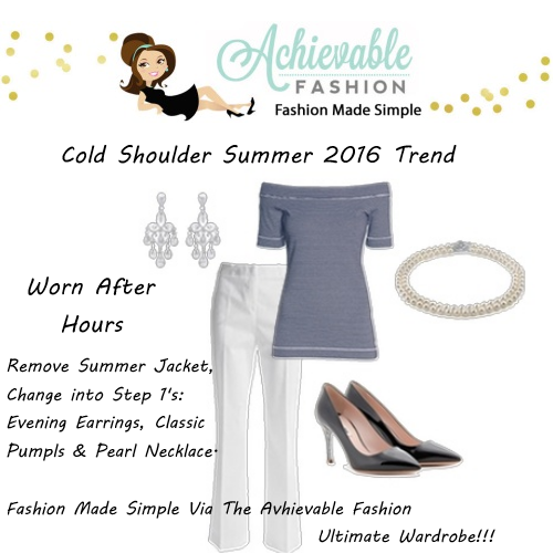 Cold Shoulder Trend Worn for After Hours