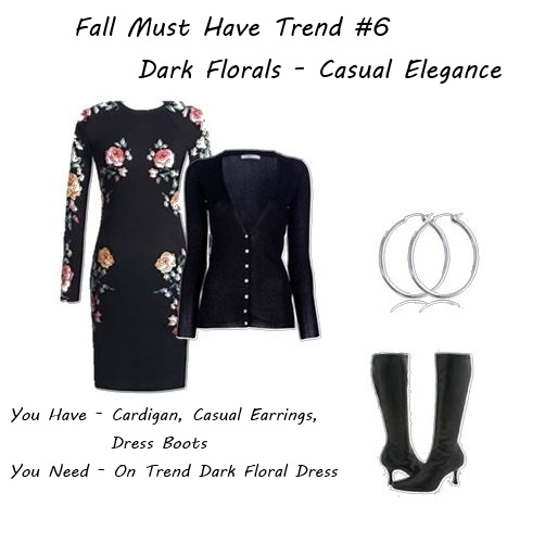 how to add fall 2014 dark florals to your closet