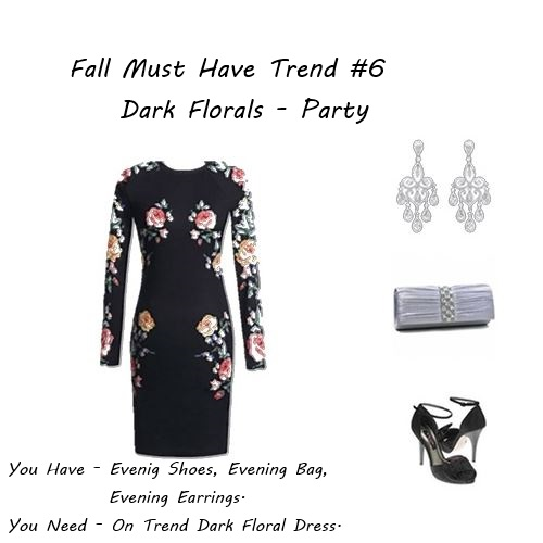 how to wear fall 2014 dark florals
