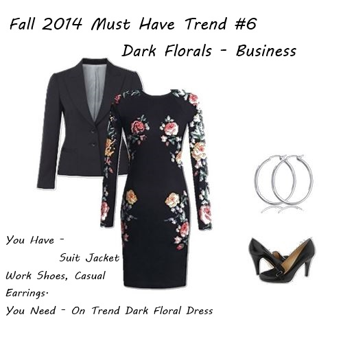 Fall 2014 dark florals in your closet