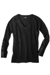 wardrobe essintial Black  Sweater for layering