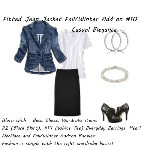 shop your closet Fitted Jean Jacet Casual Elegance
