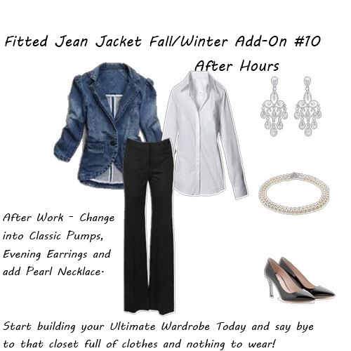shop your closet Fitted Jean Jacket After Hours