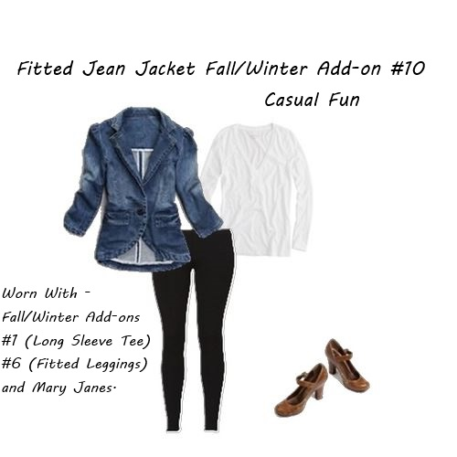 shop your closet Fitted Jean Jacket Casual Fun
