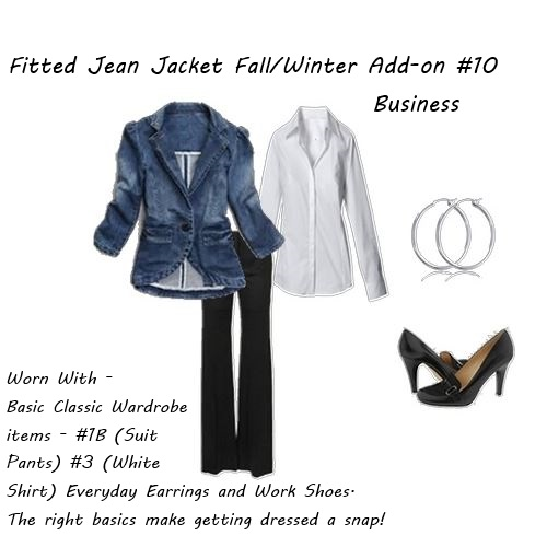 Shop your closet Fitted Jean Jacket Fall Winter Add-on 10