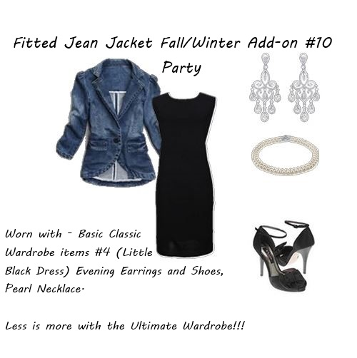 shop your closet Fitted Jean Jacket Party