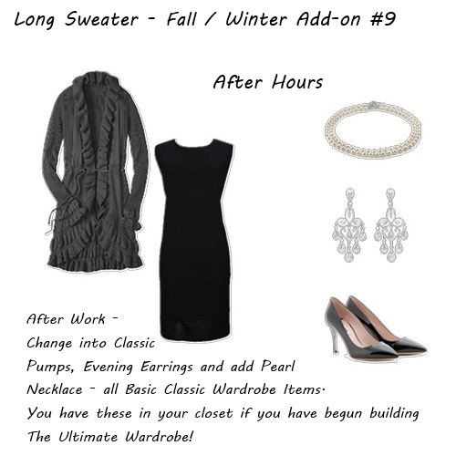 Wardrobe Must Have Long Sweater Fall Winter Add-on 9 After Hours