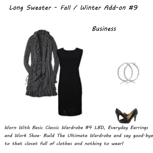 Wardrobe Must Have Long Sweater Fall Winter Add-on 9 Business