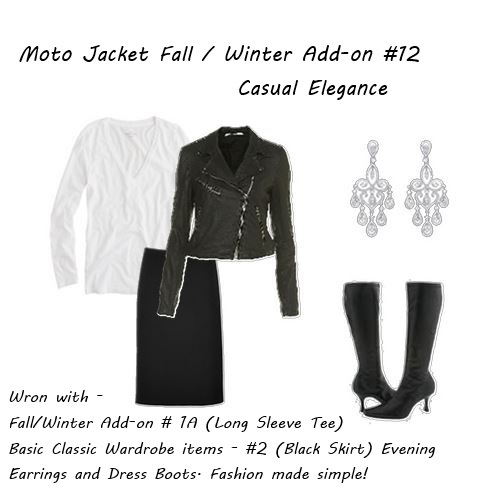 fall jacket Moto Jacket Casual Elegance