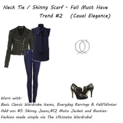latest fashion trends Skinny Scarf Casual Elegance 2