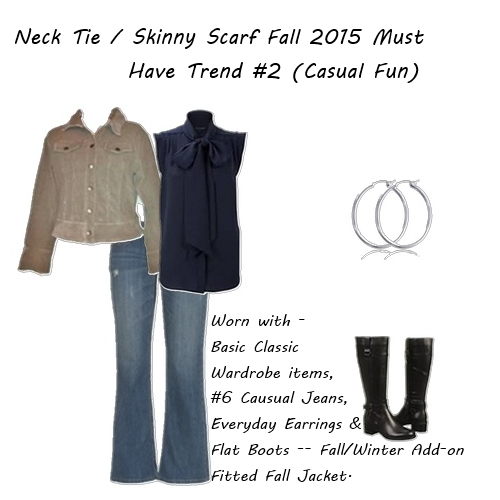latest fashion trends Skinny Scarf Casual Fun 2