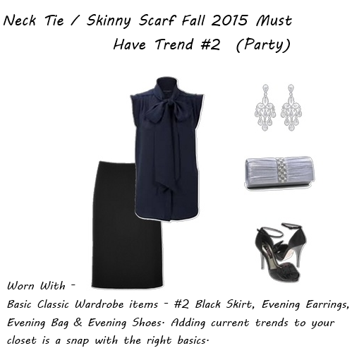 latest fashion trends Skinny Scarf Party