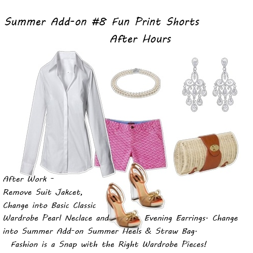 Summer Fashion Fun Print Shorts After Hours 2