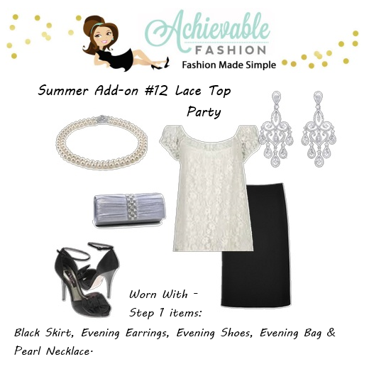 Summer Wardrobe Lace Top Party 1