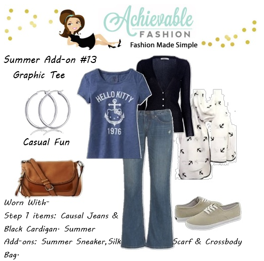 how to wear a T shirt Style Summer Tops Graphic Tee Casual Fun